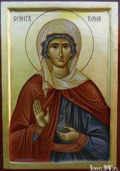 St Joanna the Myrrh-bearer Byzantine Icons, Orthodox Icons, Worship, Catholic, Saints, Princess Zelda, Painting, Fictional Characters, Google Search