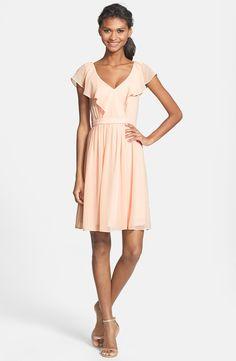Jenny Yoo 'Isabel' Ruffled Chiffon Fit & Flare Dress