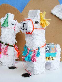 Llama pinata DIY tutorial - so cute for cinco de mayo invitations