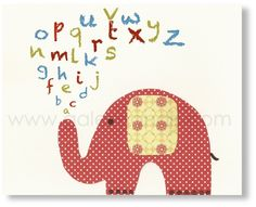 Elephant decal + alphabet wall?