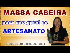 Como fazer MASSA CASEIRA para uso geral no artesanato - YouTube