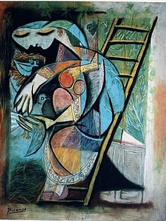Picasso Woman with Pigeons.
