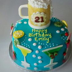 Happy 21st Birthday Cake