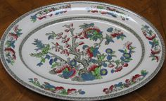 Johnson Bros Indian Tree Large Oval Platter by JosChinaShop, $20.00 > collecting pottery for an exboyfriend's Mum...