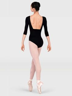 3/4 SLEEVE PINCHED FRONT LEOTARD