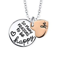 So Many Reasons To Be Happy - Inspirational Necklace 14K Rosegold Plated Sterling Silver by MyFashionVille on Opensky