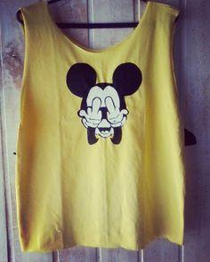 Encomenda #Mickey educado. Aceito encomendas! Camisetas novas e customização de usados.