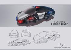 Futuristic police car by iEvgeni