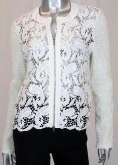 Joseph Ribkoff Ivory Lace Jacket - Ravishing & Rugged