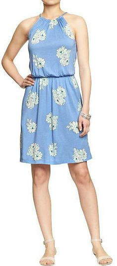 Old Navy Women's Floral-Print Jersey Dresses on shopstyle.com