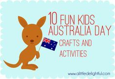 a little delightful: 10 Australia Day crafts and activities! Nanny   Babysitter   Au Pair   Childcare   Parenting - www.nannyprintables.com
