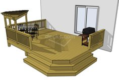 """extending the area with the grill out to the right about 2', this will get the grill out of the flow of traffic, and it will make the steps feel built-in, and slightly more """"custom"""". :)"""