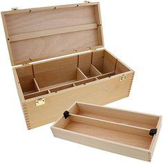 US Art Supply Artist Wood Pastel, Pen, Marker Storage Box with Drawer(s) (Large Tool Box)