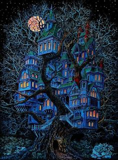 TreeHouse art-smart...I could live here & have fairies for neighbors!