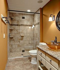 Small Bathroom Tile Ideas | When it comes to small bathroom tile ideas, it's important to plan ahead so you know exactly how you're going to achieve that larger and more open space. First, stick to tiles that are large in size and light in color. Placing small tiles throughout the bathroom will only make the room appear smaller and more cluttered. 6 to 8 inches Small Bathroom Tiles | #Bathroom #SmallBathroom #DIY #HomeImprovement