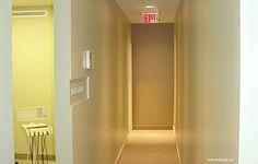 dental office design dr joe simardone ops hallway dentaloffice