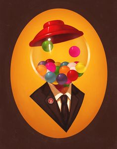 Absent-minded....  (art by Mike Mitchell)