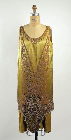 Callot Soeurs evening dress, 1925-26.