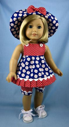 American Girl Doll Clothes   Three Piece by SewMyGoodnessShop, | http://beautifuldressocie.blogspot.com