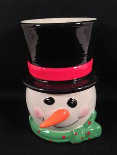 Christmas Snowman Candle Oil Warmer Fragrance Diffuser Wax Burner Melter New NIB #CIB