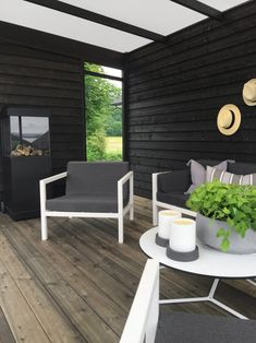 Pergola With Ceiling Fan Key: 4856144260 Cozy Backyard, Backyard Retreat, Outdoor Spaces, Outdoor Living, Yurt Living, Outdoor Glider, Black Garden, Pergola Plans, Pergola Kits