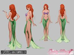 Super cute and sexy Disney Ariel Costume by J. Scott Campbell