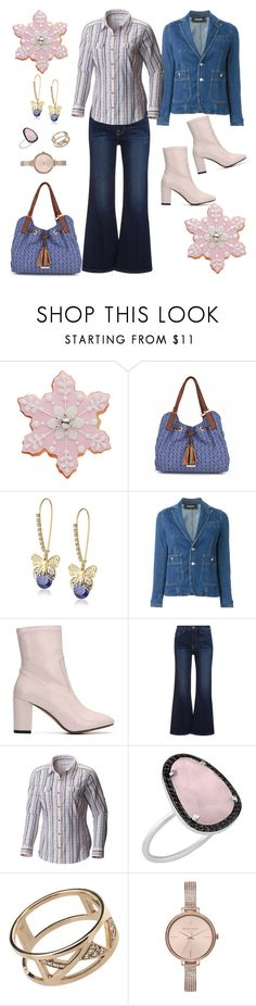 """pink+jeans"" by marlenewelke ❤ liked on Polyvore featuring Liz Claiborne, Betsey Johnson, Dsquared2, E L L E R Y, Columbia, Christina Debs, Afew Jewels and Michael Kors"