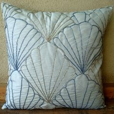 Decorative Throw Pillow Covers Accent Pillows Couch Pillows 18 Inch Silk  Pillow Covers Bead Embroidery Shells Home Living Decor Housewares