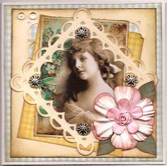 DT Vintage kort til Card and scrap