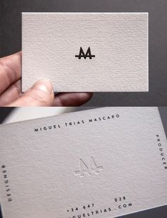 Love the feel of this - like a business card that has the texture and the embossed feel Minimal Business Card, Elegant Business Cards, Business Logo, Business Card Design, Self Branding, Logo Branding, Branding Design, Typography Logo, Lettering