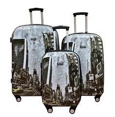 Kemyer 3 Piece Luggage Set Times Square -- This is an Amazon Affiliate link. Read more reviews of the product by visiting the link on the image.