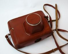 Vintage camera case Fed 5, bag camera, leather case, vintage case, photo accessories. Soviet vintage. leather clutch