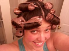 Fabric Curlers *w/tutorial link **UPDATED pics of outcome ***AFTER WORK - BATH AND BEAUTY - First off, all credit goes to Shawnee over at Life with Monkey and her super easy tutorial. Beauty Tips For Hair, Health And Beauty Tips, Hair Care Tips, Beauty Hacks, Hair Beauty, Love Hair, My Hair, Diy Hair Rollers, Natural Hair Care