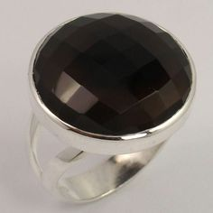 925 Sterling Silver Jewelry Nice Ring Size US 8.75 Natural SMOKY QUARTZ Gemstone #Unbranded Smoky Quartz Ring, Silver Jewelry, Gemstones, Sterling Silver, Nice, Tableware, Natural, Rings, Dinnerware