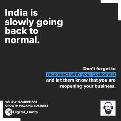 In these confusing times, it's important you stick to your loyal customers first. Notify them before anyone else. Bring your business back to normal first and then expand. . . . . #Follow @Digital_hanta for more #BusinessTips  #SmallBusiness #SupportSmall #VocalForLocal #MarketingTips #businessinpandemic #MarketingSuccess #entrepreneurlife Loyal Customer, Growth Hacking, Business Tips, Don't Forget, Success, Times, Let It Be, Marketing, Digital
