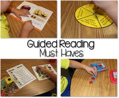 Guided reading has always been one of my favorite parts of the day. It's a time for me to work with small groups of students to help them become stronger, more confident readers. I meet with at least Guided Reading Activities, Guided Reading Lessons, Guided Reading Groups, Reading Centers, Reading Workshop, Kindergarten Reading, Reading Skills, Teaching Reading, Teaching Ideas