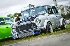 Classic mini front end view