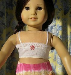 American Girl Doll Bra Tutorial