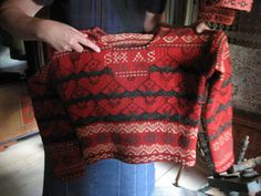 Traditional knitted sweaters from Halsingland province in Sweden |Hälsingetröjor