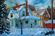 Paintings - David Langevin Artworks Inc. Expressive Art, Canadian Art, Old Master, Cityscapes, British Columbia, Painting Inspiration, Wilderness, Buildings, Landscapes