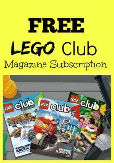 free LEGO club Magazine Subscription for Kids