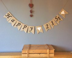 A personal favourite from my Etsy shop https://www.etsy.com/uk/listing/518809387/21st-birthday-bunting-banner-vintage