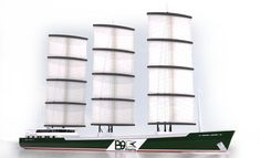 Wind energy is now again being used to power a variety of cargo vessels and ship concepts. Learn how these seven green ship technologies would help to harness wind power. Cargo Services, Presents For Men, Set Sail, Wind Power, Luxury Yachts, Rolls Royce, Sailing Ships, Concept