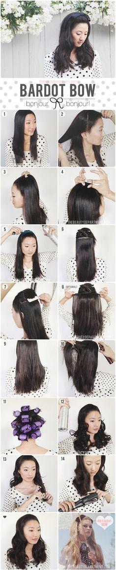 Bardot hair tutorial