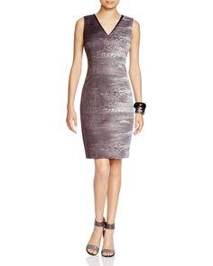 T Tahari Carly Abstract Print Dress