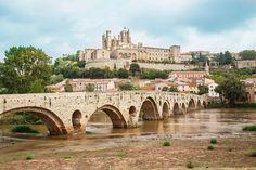 #arcades #architecture #basilica #bziers #bridge #church #citadel #fortification #france #monument #river #sky