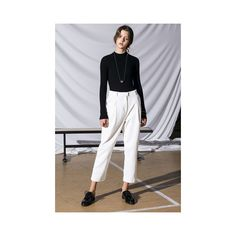 White Oversized Corduroy Pants ($119) ❤ liked on Polyvore featuring pants, white, oversized pants, cordoroy pants, white corduroy pants, white pants and corduroy trousers