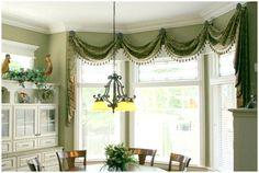 Swag Window Treatment Ideas | Beautiful Window Treatments | Window treatment, blinds and window ...