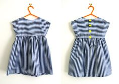 Simple tunic or dress pattern : Free pattern sizes & years from Made By Toya - striped tunic dress Visit the post for more. Tunic Dress Patterns, Toddler Dress Patterns, Tunic Pattern, Clothing Patterns, Free Pattern, Pattern Sewing, Little Girl Dress Patterns, Skirt Patterns, Pattern Drafting