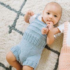 Paris Playsuit Knitting Kit | Stitch & Story - Stitch & Story UK Knitting Kits, Baby Knitting, Crochet Baby, Knitting Patterns, Sewing Patterns, Baby Patterns, Bamboo Knitting Needles, Cast Off, Online Tutorials